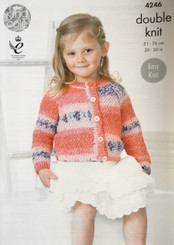 King Cole  Girls double knitting pattern 4246