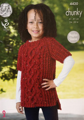 King Cole boys & girls chunky knitting pattern 4420