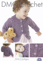 Crochet leaflet Girls cardigan 14889L2