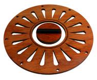 Padauk Cover Plate & Biscuit Bridge Combo for 5.5-inch Resonator Cones