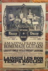 """""""Razzy Daddy Spasm Band"""" Historic-themed 12x18 Poster"""
