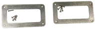"""2pc. Stainless Steel """"Soap Bar"""" P-90 Pickup Cover Rings with Screws"""