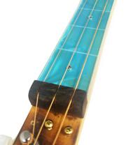 """Teal Swirl Cigar Box Guitar (1.5"""") Acrylic Fretboard Underlay"""