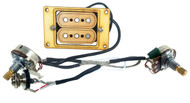 """""""DeltaBucker Deluxe"""" 3-string Maple Cigar Box Guitar Humbucker Pickup pre-wired with Volume & Tone - No Soldering!"""