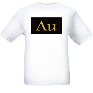 AU White & Black Gold T Shirts