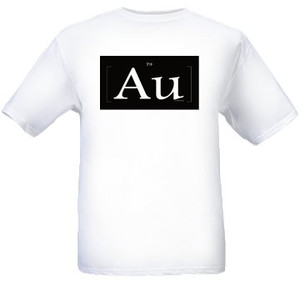"AU White & ""Gold"" T Shirts"