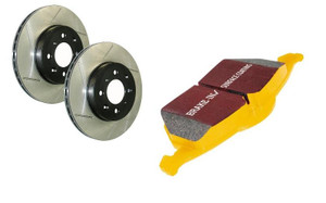StopTech/ Centric Rotors w/ EBC Yellow Stuff Pads Kit for B8 S4/S5 - Rear