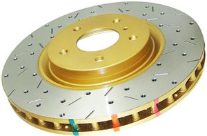 DBA 4000 Series Rotor; Cross Drilled/Slotted Uni-Directional Rotor - Rear
