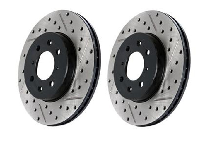 StopTech Drilled & Slotted Sportstop Rotor - Rear Left