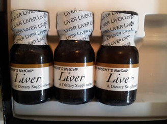 frozen NatCell Liver Extract vials