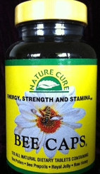 A synergistic combination of: Bee Pollen 1000mg Bee Propolis 400 mg Royal Jelly 200 mg Raw Honey 100 mg by Natures Cure