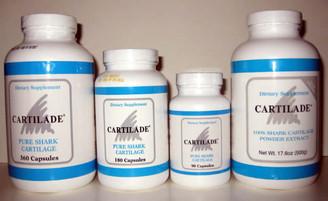 Cartilade 180 Capsules, Cartilade 360 Capsules, 500 gram powder, Cartilade 90 Capsules