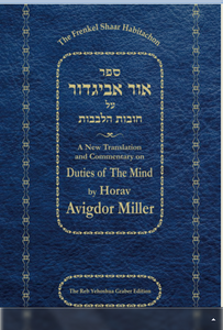 Ohr Avigdor Shaar Bitachon (Soft back) by Rabbi Avigdor Miller