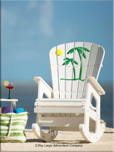 Palm Tree Outdoor Patio Rocking Chair