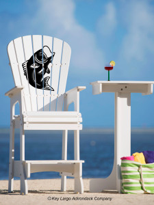 Outdoor Patio Lifeguard Chair - Bass Fish