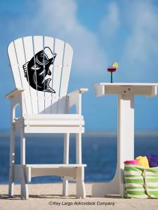 Outdoor Patio Lifeguard Chair - Bass Fish