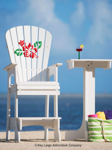 Outdoor Patio Lifeguard Chair - Hibiscus