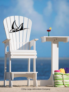 Outdoor Patio Lifeguard Chair - Leopard Ray - JM Design