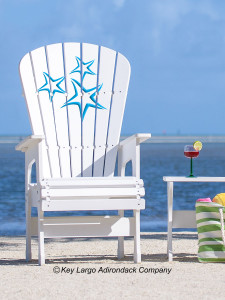High Top Patio Chair - Starfish Blue