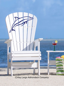 High Top Patio Chair - Porpoise Jumping - JM Design