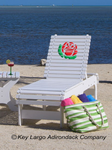 Outdoor Patio Chaise Lounge - Rose