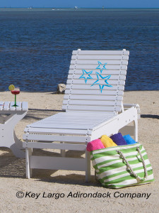 Outdoor Patio Chaise Lounge - Starfish Blue