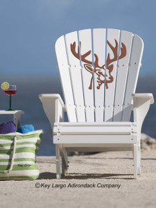 Deer Head Adirondack Chair