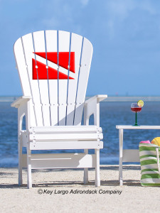 High Top Patio Chair - Dive Flag