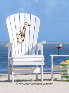High Top Patio Chair - Saxophone