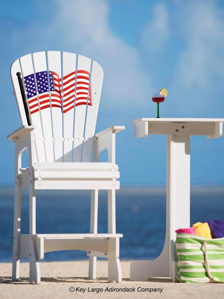... Lifeguard Chair   American Flag. Image 1