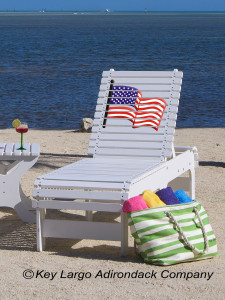 Outdoor Patio Chaise Lounge - American Flag