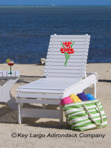 Outdoor Patio Chaise Lounge - Bouquet of Flowers