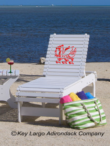 Outdoor Patio Chaise Lounge - Welsh Dragon
