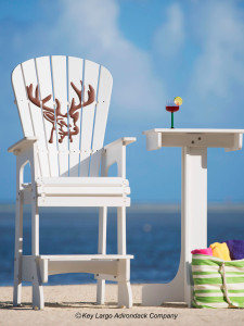 Outdoor Patio Lifeguard Chair - Deer Head
