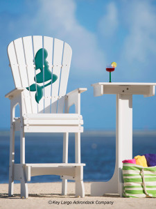 Outdoor Patio Lifeguard Chair - Mermaid