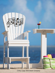 Outdoor Patio Lifeguard Chair - Music