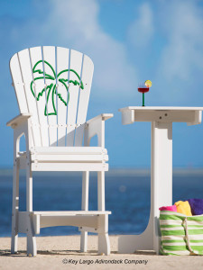 Outdoor Patio Lifeguard Chair - Palm Tree