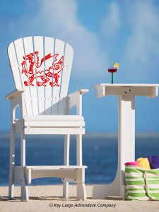 Outdoor Patio Lifeguard Chair - Welsh Dragon