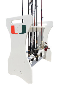 University of Miami Fishing Rod Holder