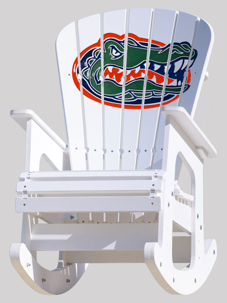 University Of Florida Gators Rocking Chair   Key Largo Adirondack Company