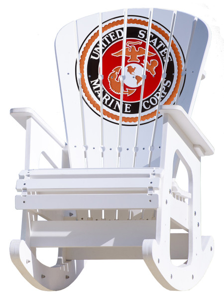 United States Marine Corps Rocking Chair