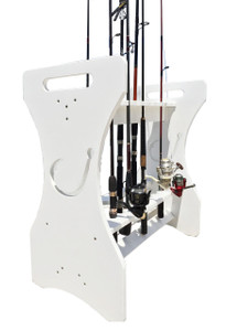 Large Hook Cutout Rod Holder