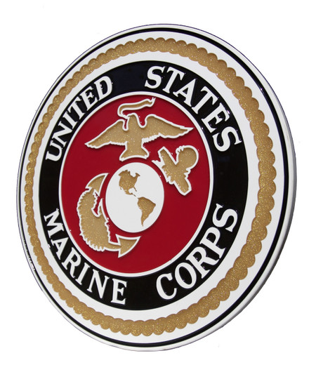 Beautiful United States Marine Corps Wall Plaque - Hand Poured Epoxy Resin.