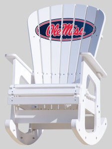 Ole Miss Rebels Rocking Chair