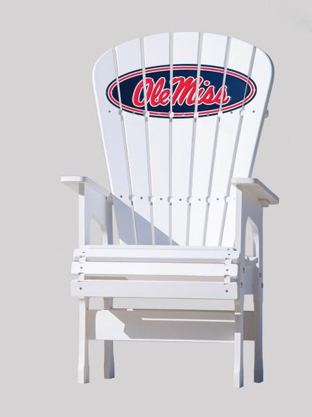 High Top Patio Chair   University Of Mississippi   Ole Miss   Key Largo  Adirondack Company