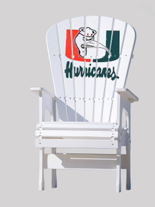 University of Miami Hurricanes patio chair with Ibis