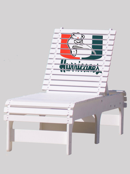 University of Miami Hurricanes Chaise Lounge with Ibis Logo