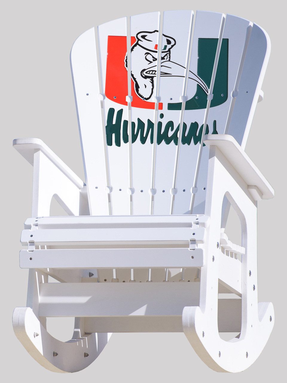 University Of Miami Hurricanes Rocking Chair With Ibis