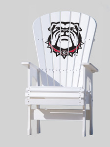 University of Georgia Bulldogs - Hight Top Chair  - Bulldog