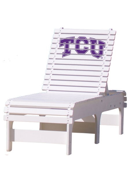 Texas Christian University - Horned Frogs - Chaise Lounge